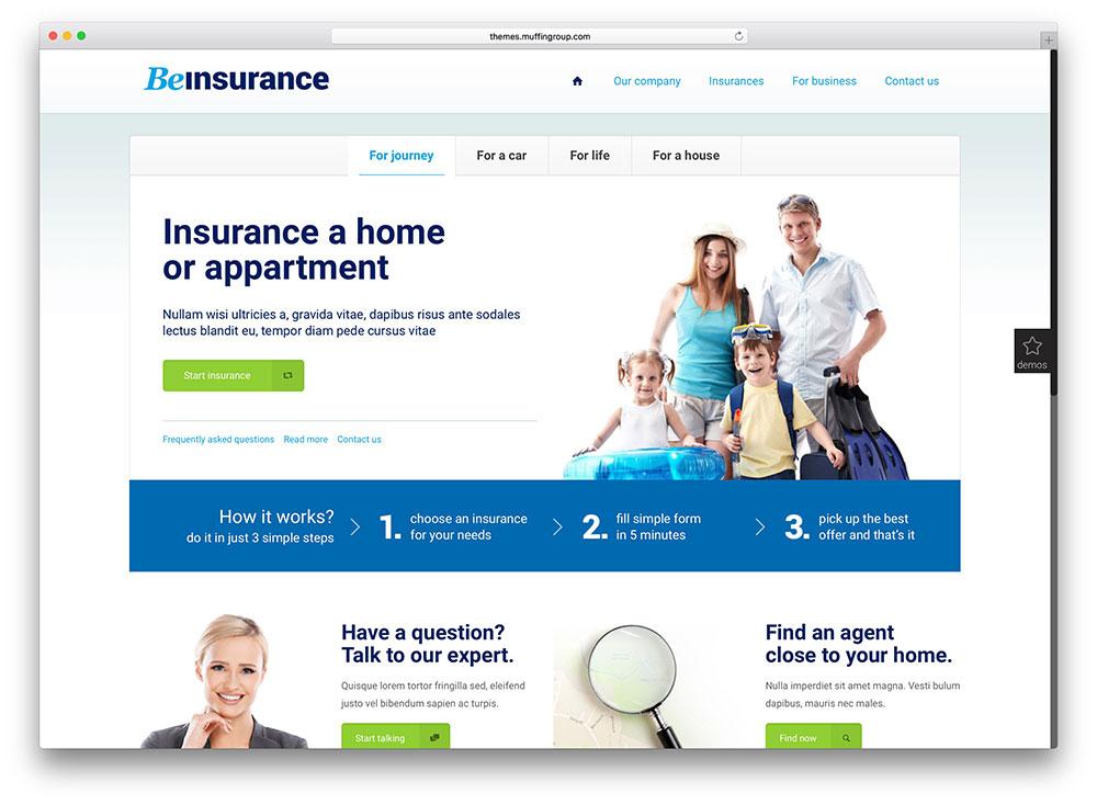 Thiết kế website bảo hiểm