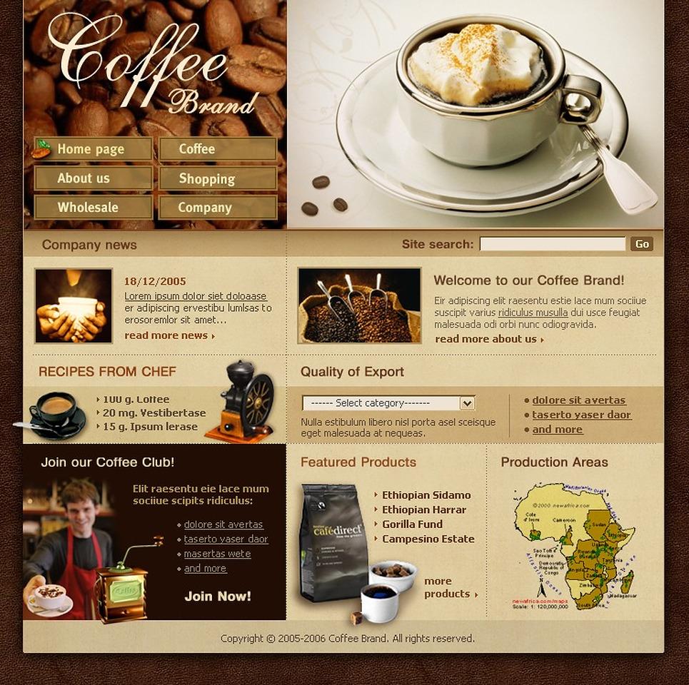 Thiết kế website cà phê 1