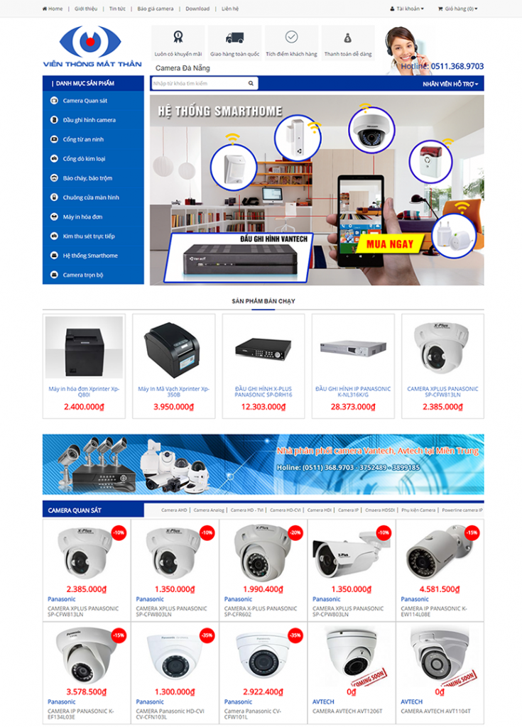 Thiết kế website camera 1