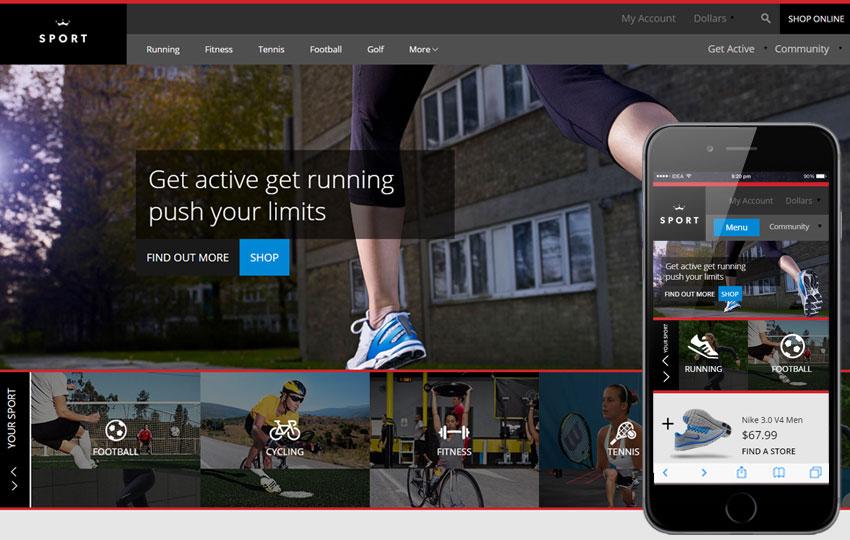 Thiết kế website đồ thể thao