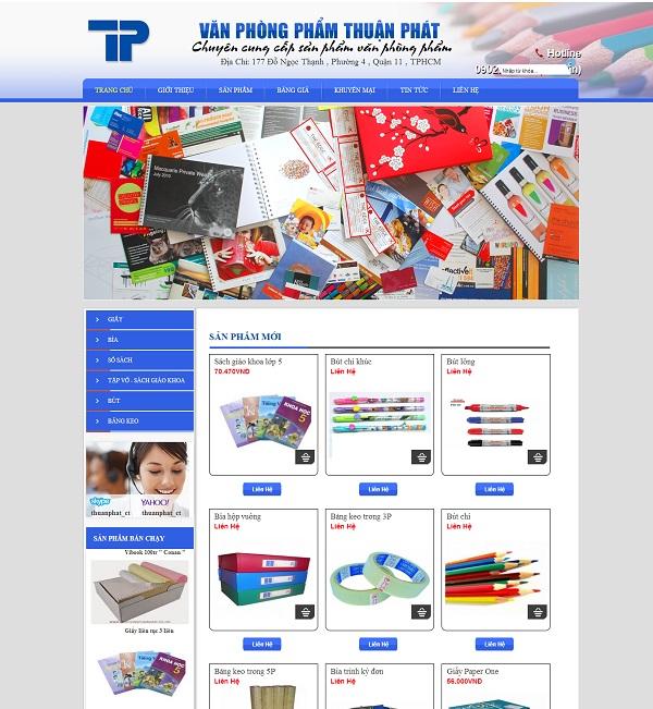 Thiết kế website văn phòng phẩm 1