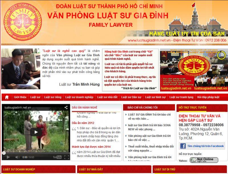 Thiết kế website văn phòng luật sư 2