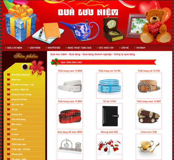 Thiết kế website bán đồ lưu niệm
