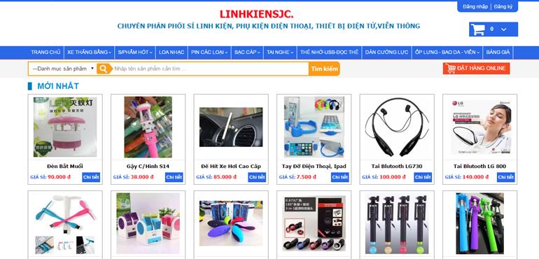 Thiết kế web bán phụ kiện điện thoại