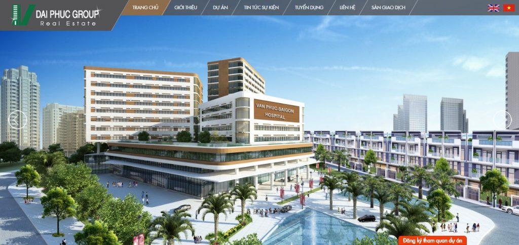 Thiết kế website bất động sản 2