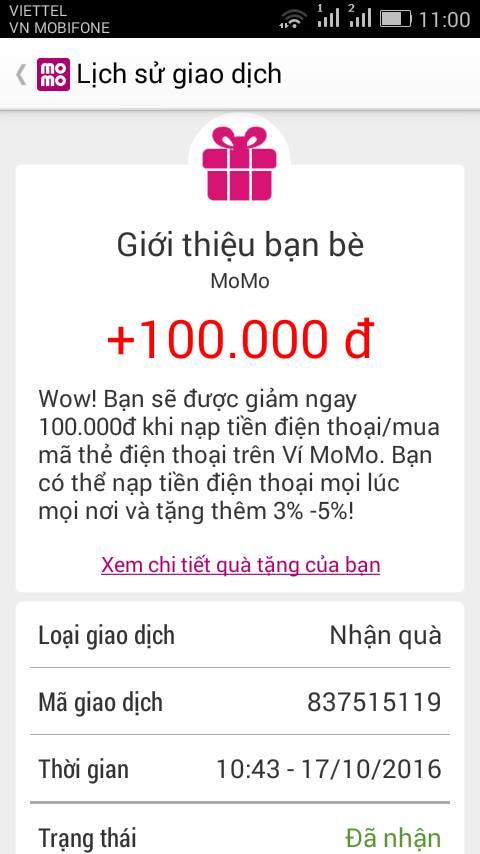 Hướng dẫn kiếm 100k từ MOMO nhanh nhất 8