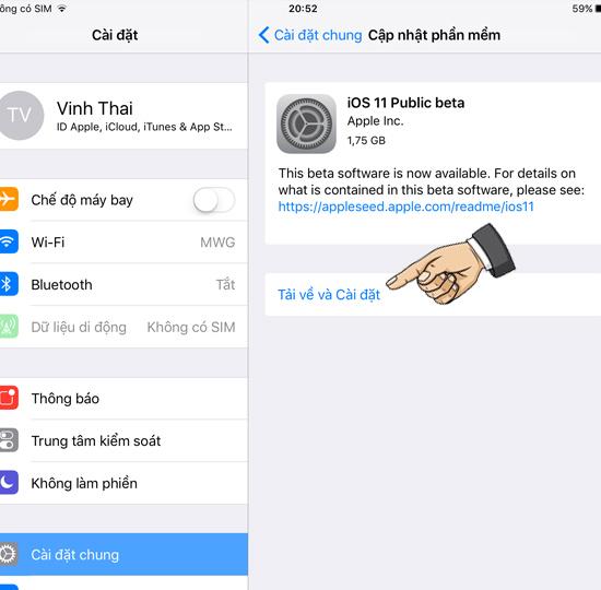 Cách tải về phiên bản iOS 11 mới nhất 6