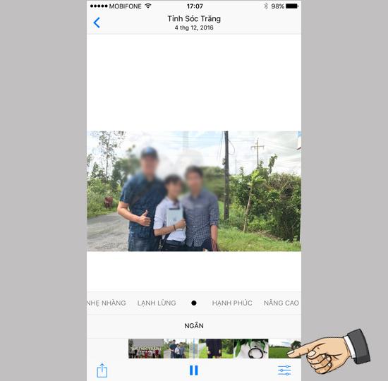 Hướng dẫn tự tạo Video hình ảnh trên iOS 10 2