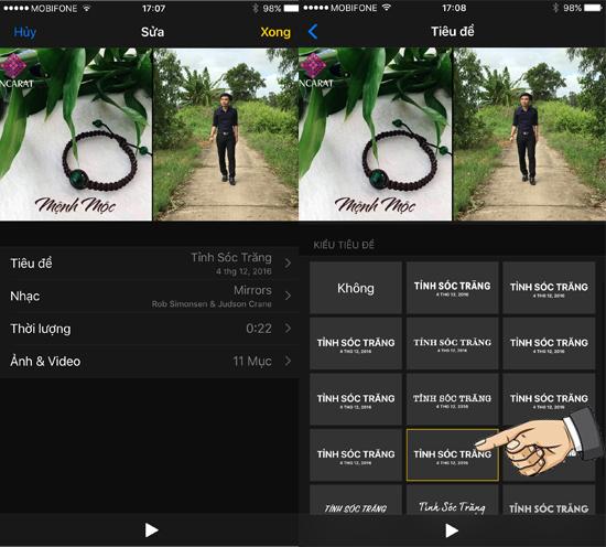 Hướng dẫn tự tạo Video hình ảnh trên iOS 10 3