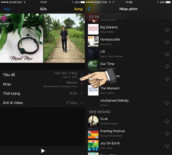 Hướng dẫn tự tạo Video hình ảnh trên iOS 10 4