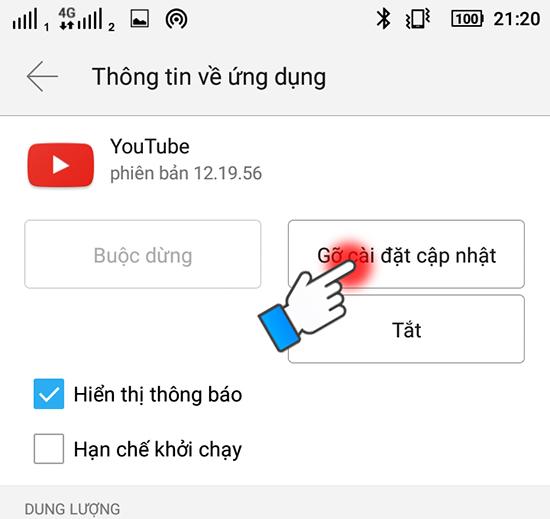 Lỗi cần khắc phục không xem được Youtube 6