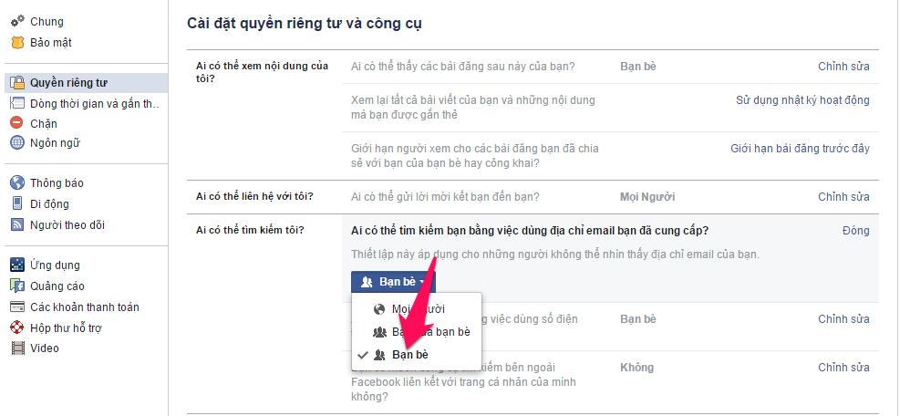 Cách ẩn trang cá nhân Facebook trên các công cụ tìm kiếm-4