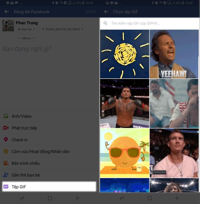 Cách đăng status bằng ảnh GIF trên Facebook rất thú vị