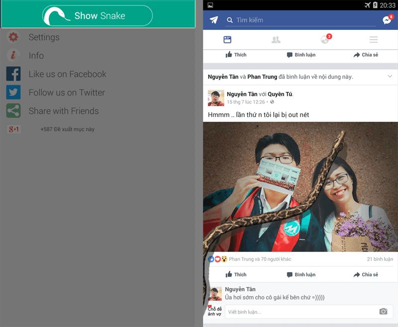 Cách tạo rắn bò trên màn hình điện thoại để troll bạn bè 2
