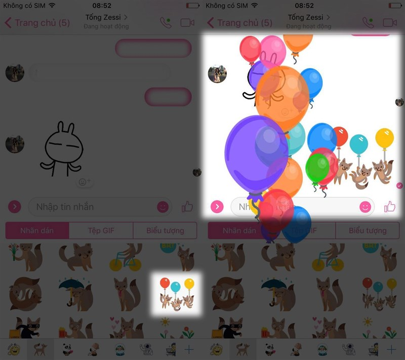Cách thả bong bóng trên Messenger tuyệt đẹp trên facebook 3