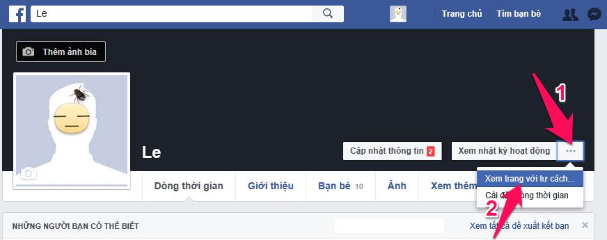 Cách xem Facebook của mình với tư cách người khác 1