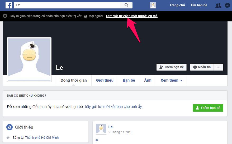 Cách xem Facebook của mình với tư cách người khác 3