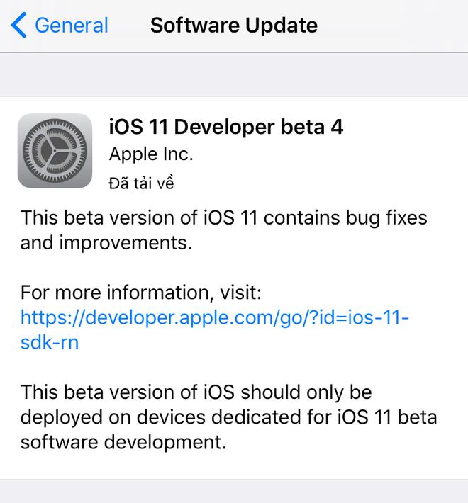 Cập nhật iOS 11 beta 4 sửa lỗi và thêm tính năng-3