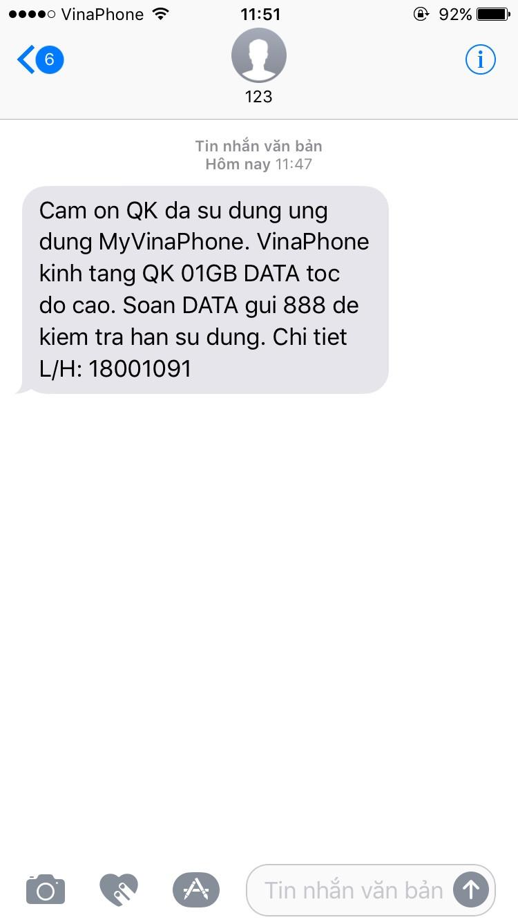 Nhận 1GB Data miễn phí của Vinaphone bạn đã biết chưa 2