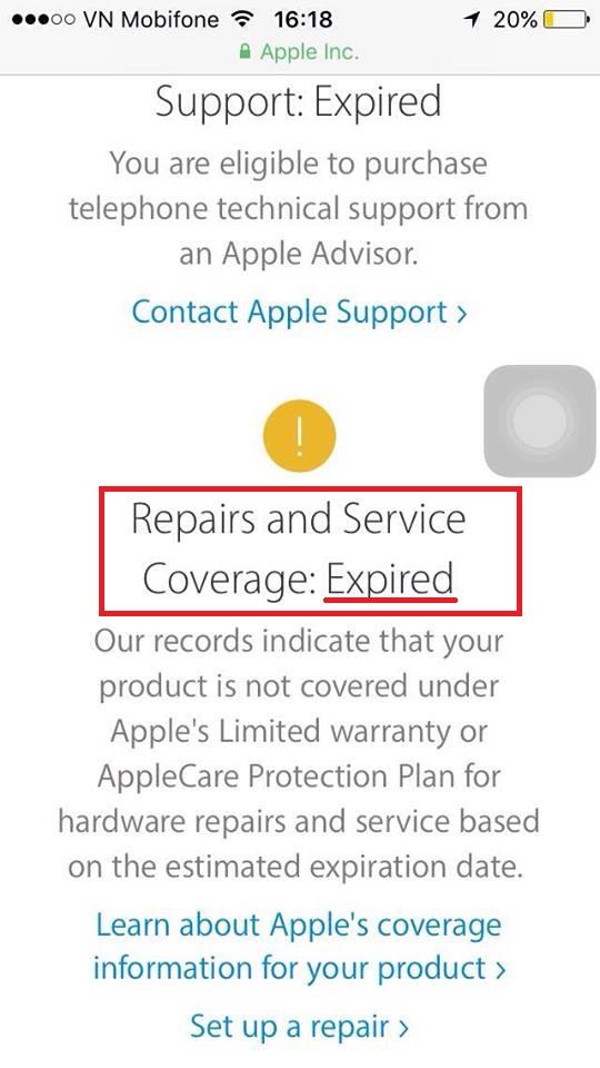 Cách kiểm tra iPhone chính hãng và thời hạn bảo hành 3
