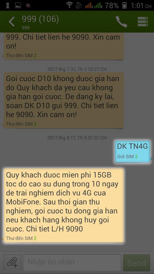 Cách nhận ngay 15GB data 4G miễn phí từ MobiFone