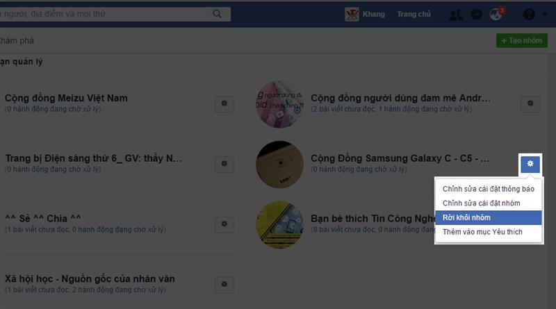 Hướng dẫn thoát hàng loạt Group khó chịu trên Facebook 2