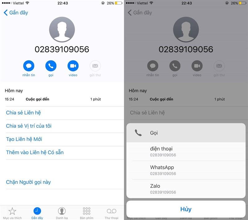 Zalo cập nhật tính năng gọi thoại và video trực tiếp từ danh bạ smartphone 1