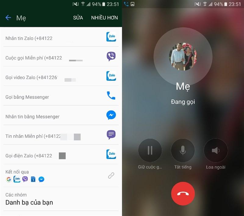 Zalo cập nhật tính năng gọi thoại và video trực tiếp từ danh bạ smartphone 2