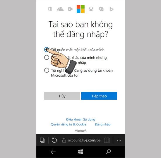 Hướng dẫn lấy lại mật khẩu của tài khoản Microsoft Live ID 2