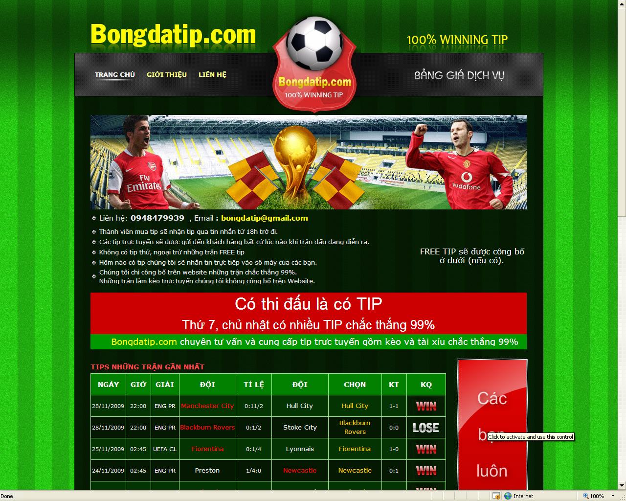 thiết kế website bóng đá online