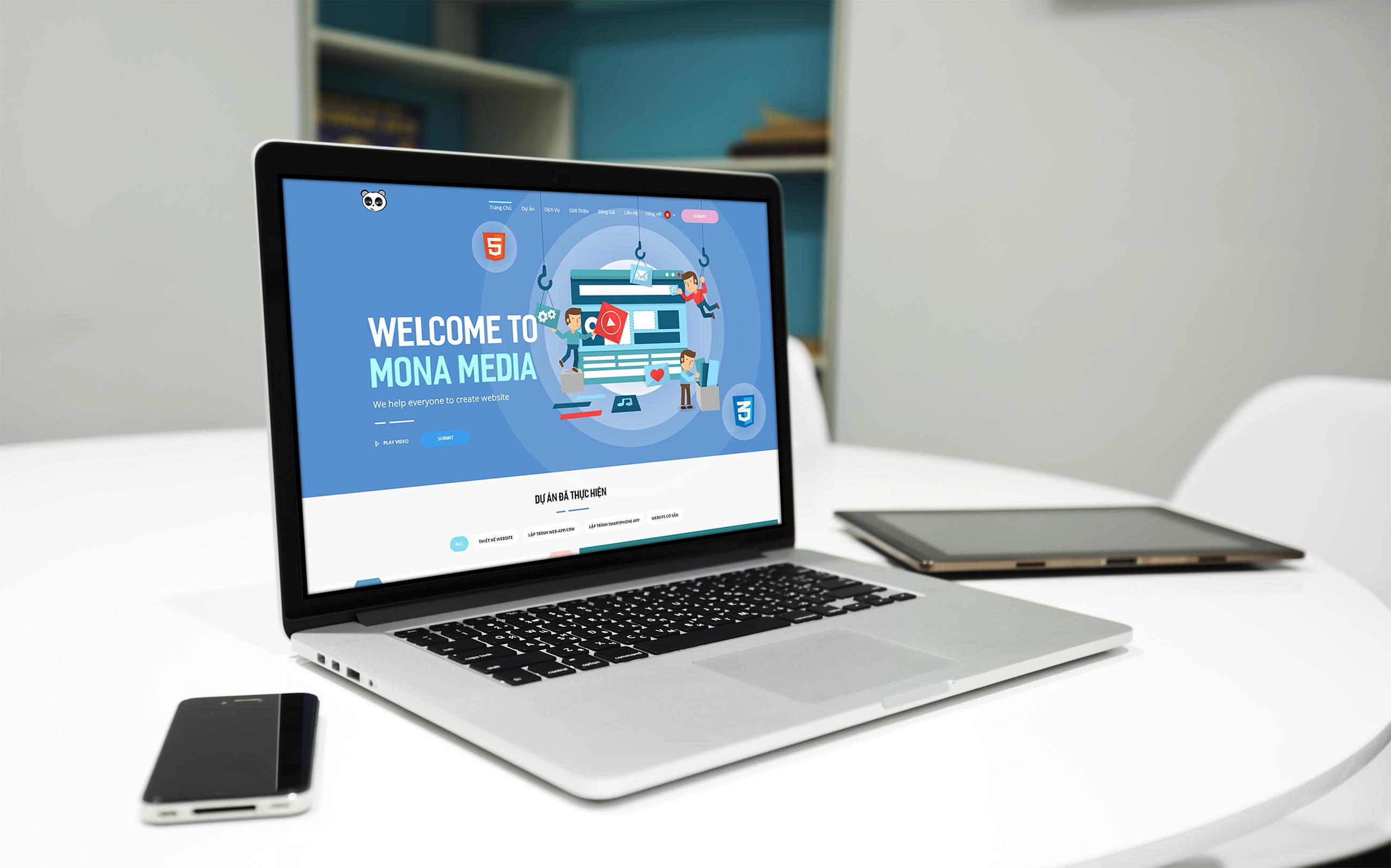 Thiết kế website ấn tượng, thu hút nhiều khách hàng truy cập
