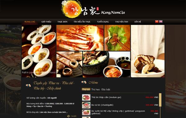 thiet ke website nha hang am thuc
