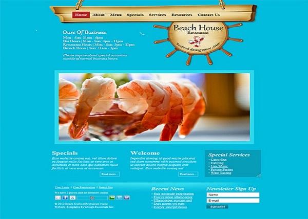thiet ke website thuy hai san