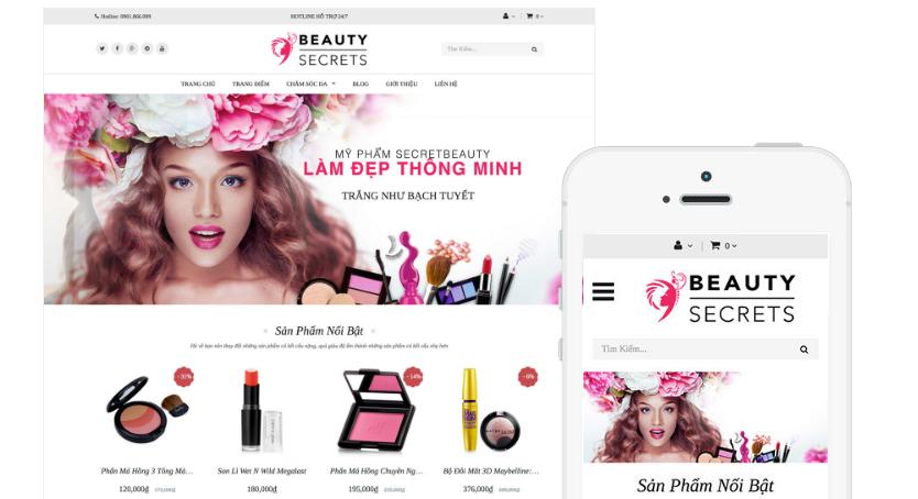 Kinh doanh online mỹ phẩm cần website như thế nào? 2