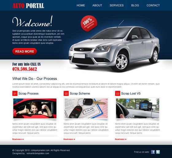Chức năng cơ bản của gói thiết kế website thuê xe ôtô 1