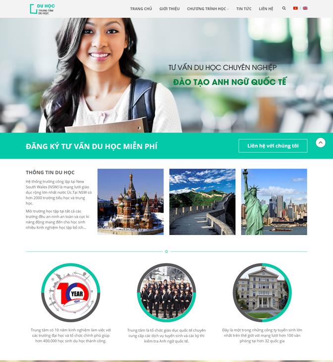 Thiết kế website du học 1