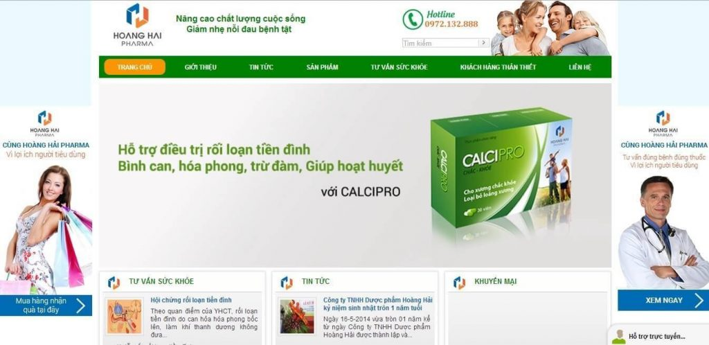 Thiết kế web dược phẩm 1