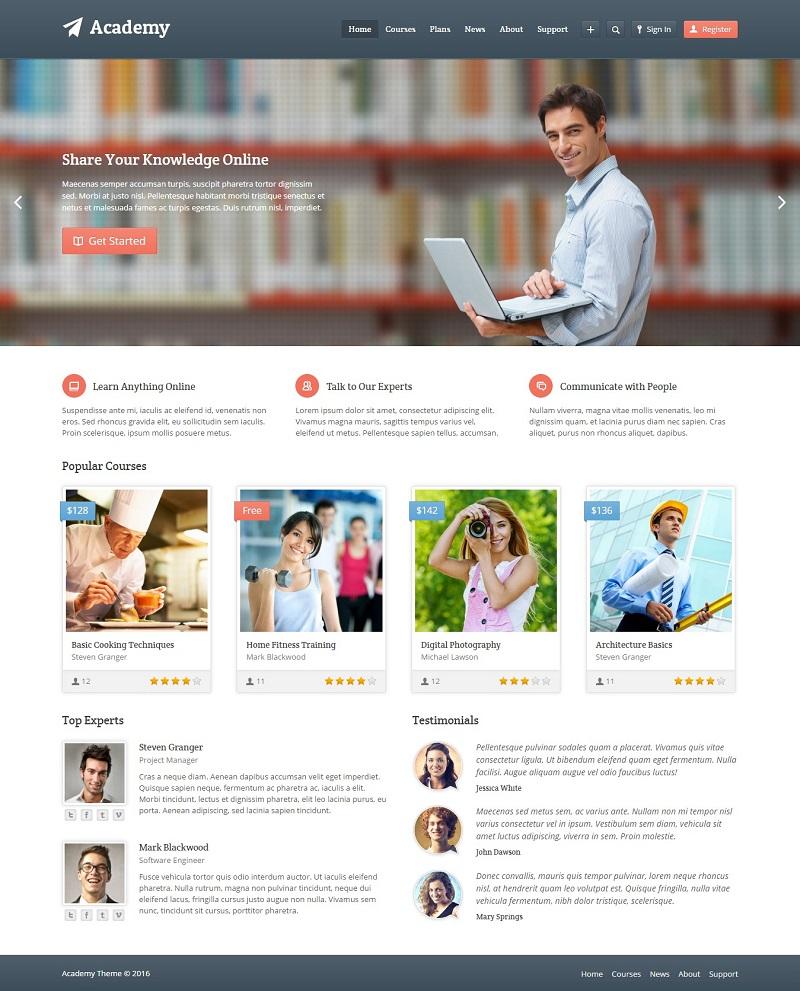Thiết kế website giáo dục - trường học
