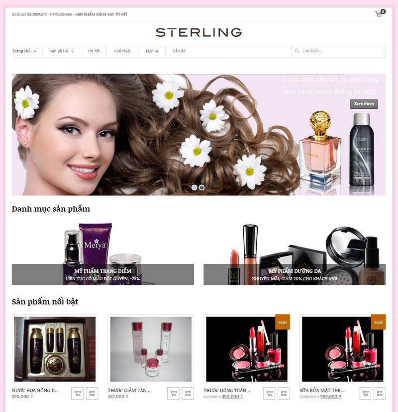 Thiết kế website mỹ phẩm Đà Nẵng