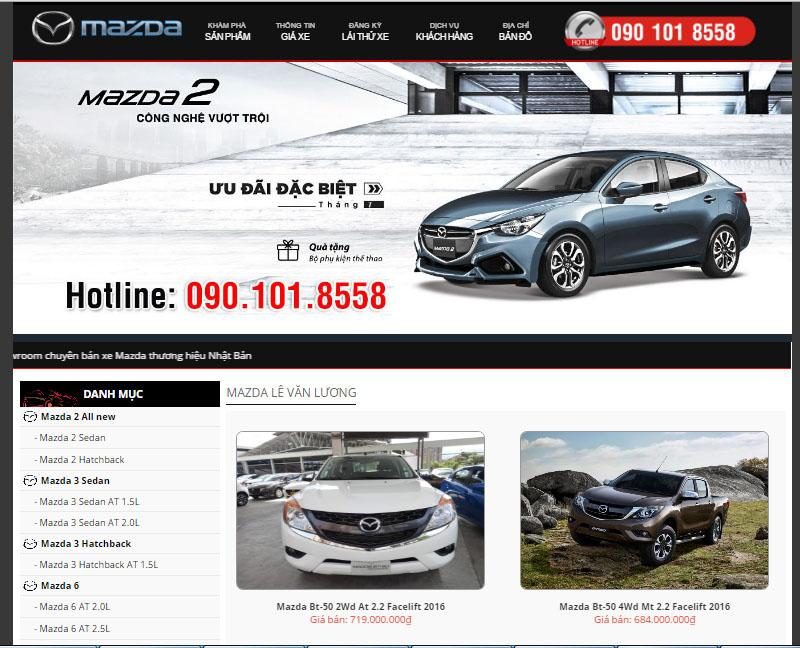 Thiết kế web ô tô 1