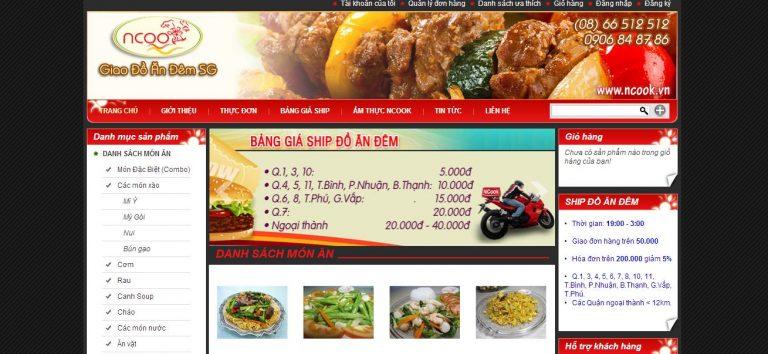 Thiết kế website bán đồ ăn vặt 1