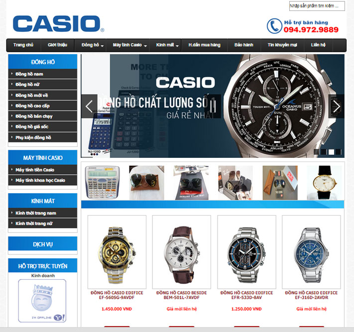Thiết kế website bán đồng hồ 1