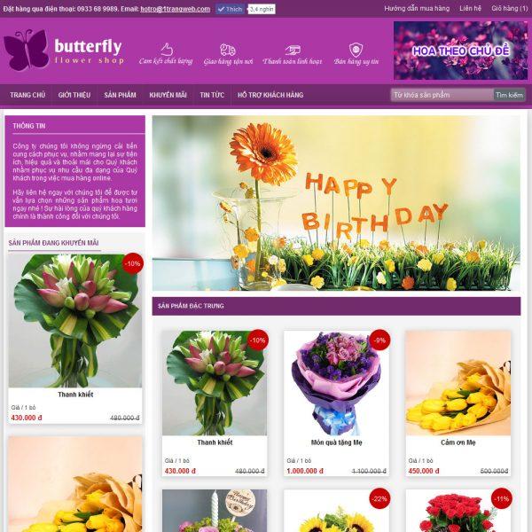 Thiết kế website bán hoa 2