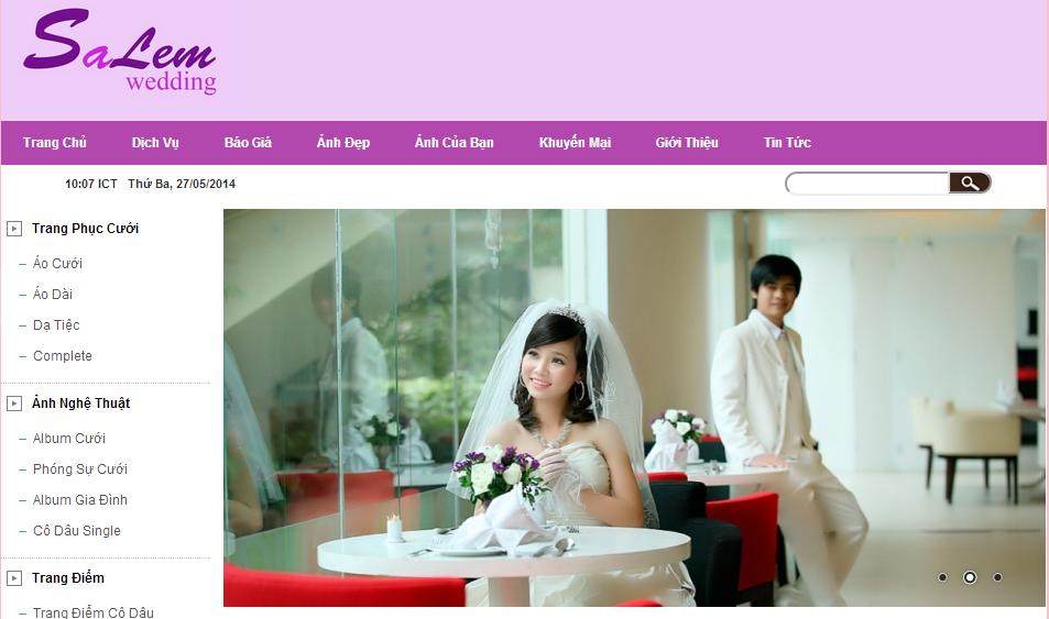 Thiết kế web cho thuê váy cưới
