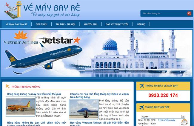 Thiết kế website bán vé máy bay 1