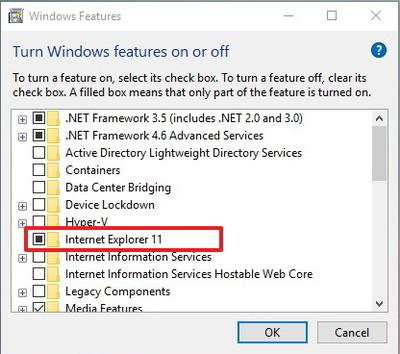 Gỡ bỏ trình duyệt Internet Explorer-3