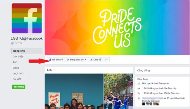 Làm sao để xuất hiện biểu tượng cầu vồng trên Facebook? 2