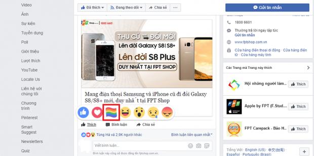 Làm sao để xuất hiện biểu tượng cầu vồng trên Facebook? 3