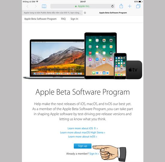 Cách tải về phiên bản iOS 11 mới nhất 1
