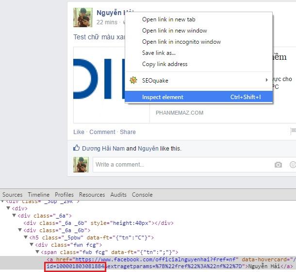 Cách viết chữ màu xanh trên Facebook